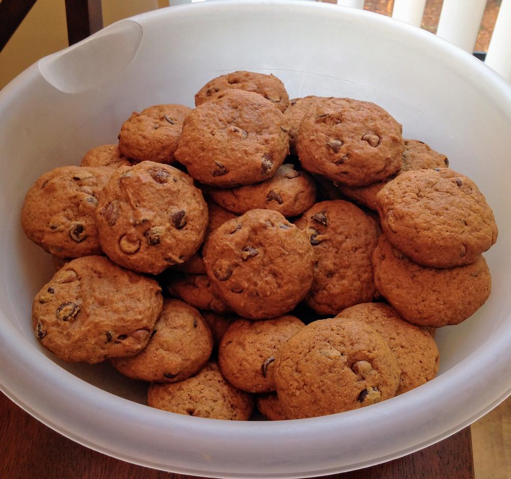 Soft Cake-like Pumpkin Chocolate Chip Cookies