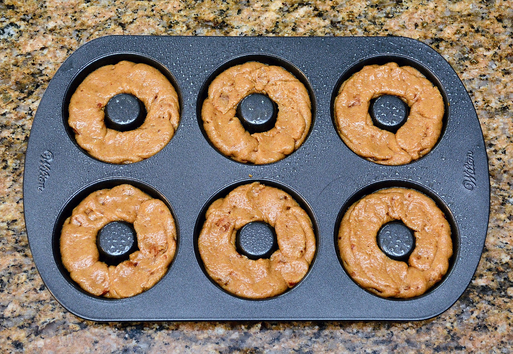 All-natural Peanut Butter Bacon Doggie Donuts