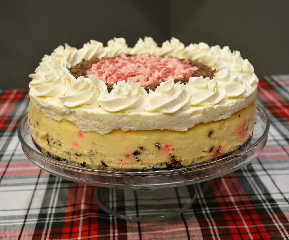 Luxurious Peppermint Bark Cheesecake