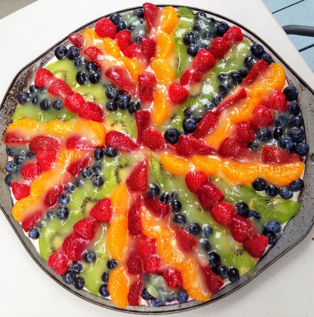 Fresh Fruit Pizza with Lemon Glaze