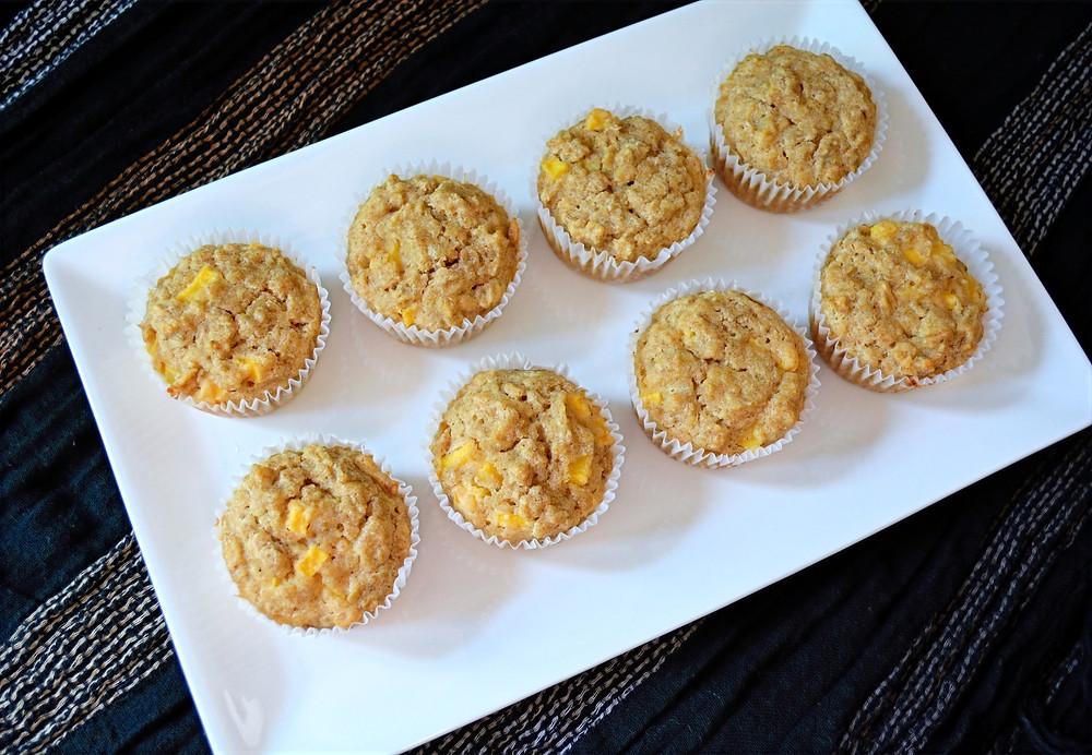 Mango Oatmeal Dog Muffins