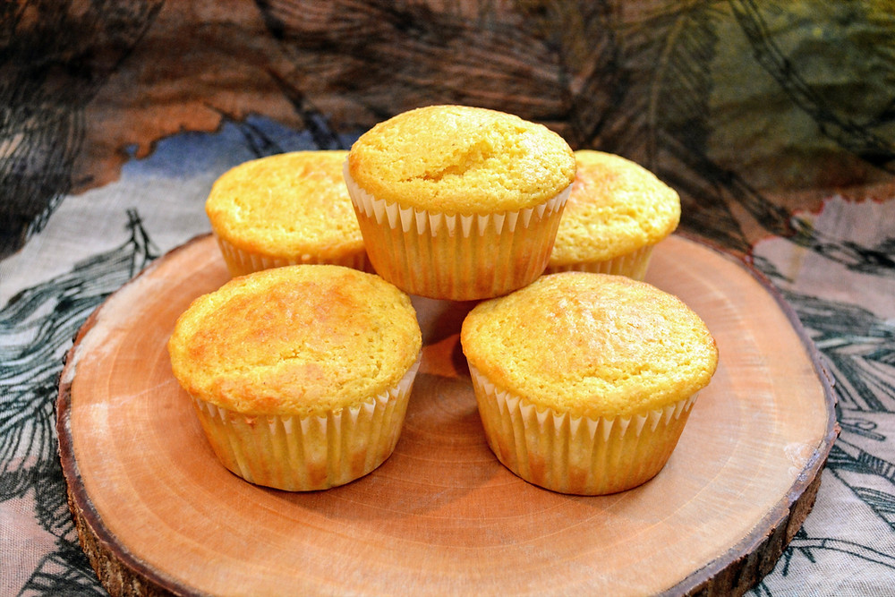 Sweet and Savory Honey Cornbread Muffins