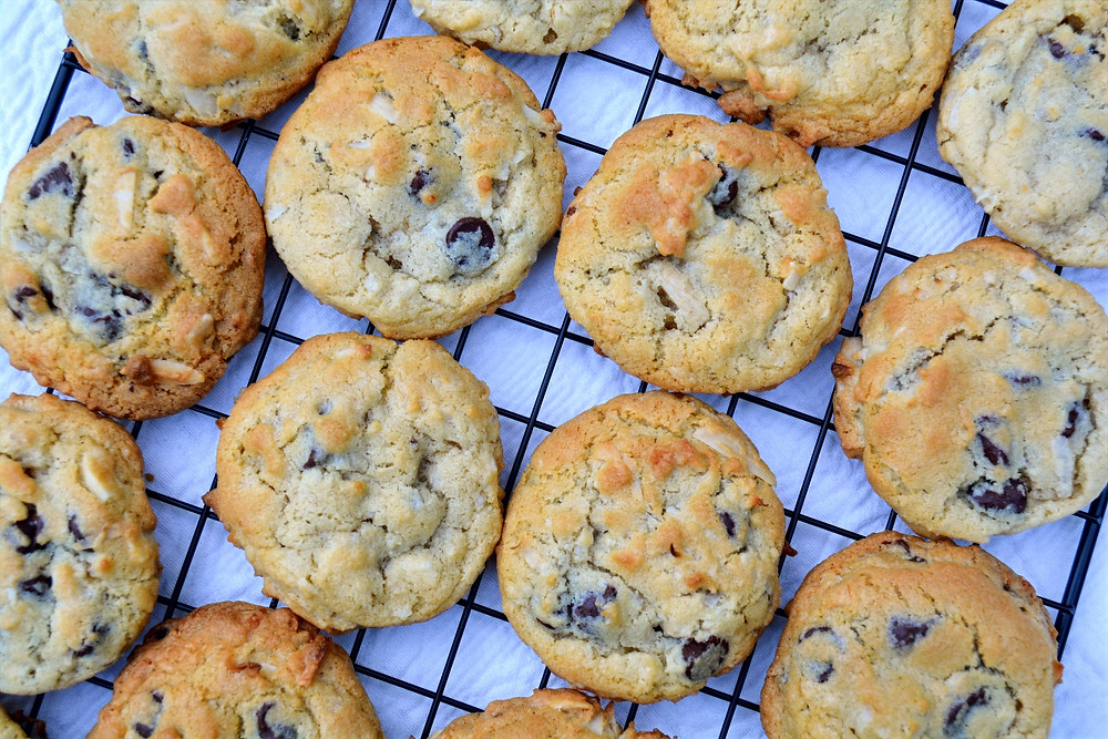 Soft and Chewy Almond Joy Cookies
