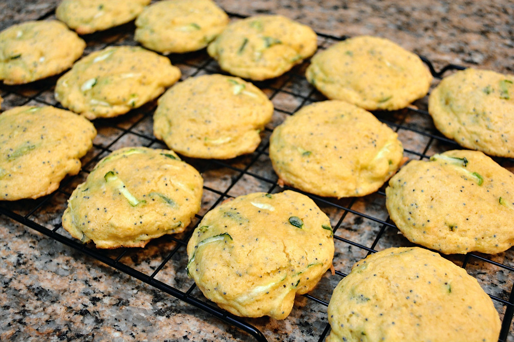 Soft Lemon Poppy Seed Zucchini Cookies