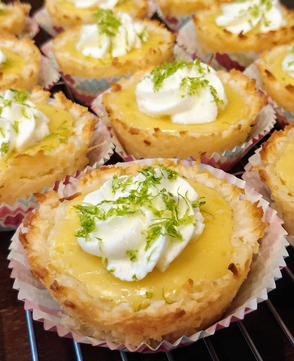 Chewy Mini Lime Tartlets with Coconut Macaroon Crust