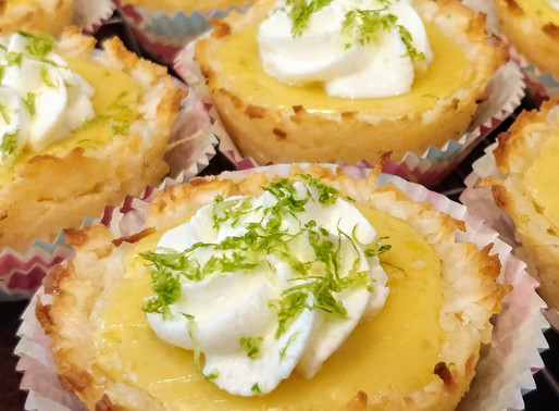 Mini Lime Tartlets with Macaroon Crust