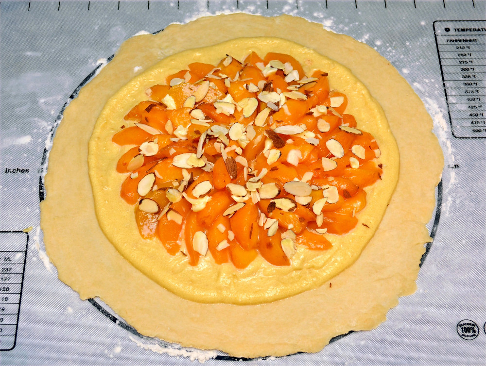 Peach Frangipane Galette with Sweet Almond Filling