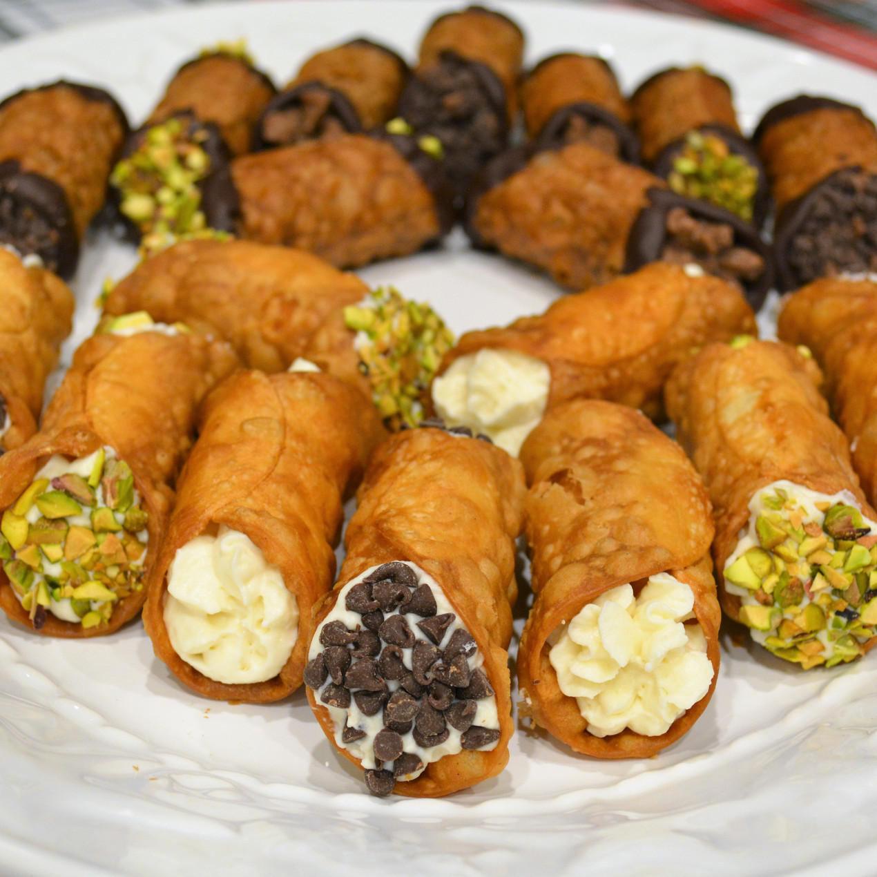 Homemade Italian Cannolis with Traditional Ricotta Filling
