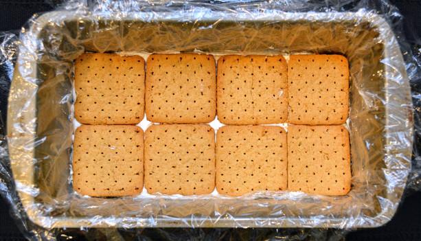 Graham Cracker Layer of Snickers Icebox Cake