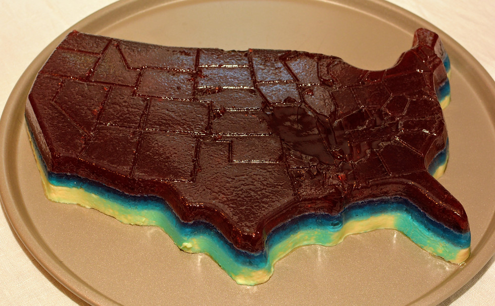 4th of July Jell-O Cake with Berry Blue Layer