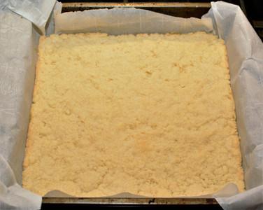 Shortbread Cookie Crust for Blueberry Lemon Coconut Cake Bars