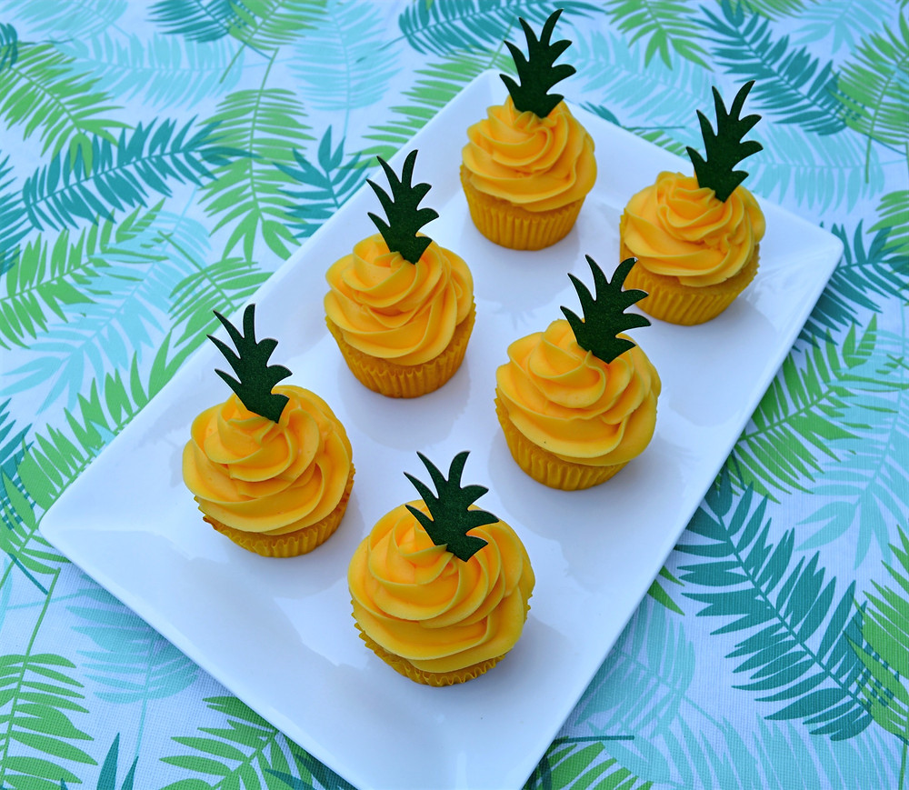 Topical Pineapple Cupcakes