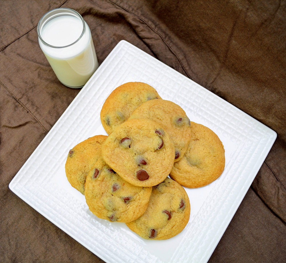 Bakery Style Soft & Chewy Chocolate Chip Cookies