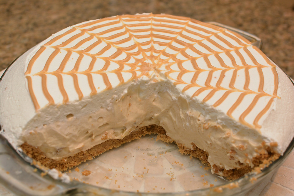 Peanut Butter Banana Cream Pie with Peanut Butter Drizzle