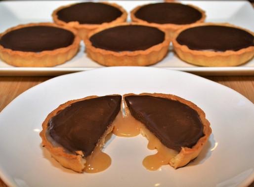Dark Chocolate Salted Caramel Mini Tarts