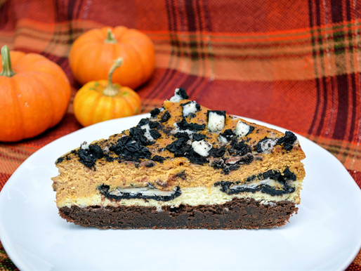 Gluten-free Pumpkin Cheesecake Brownies