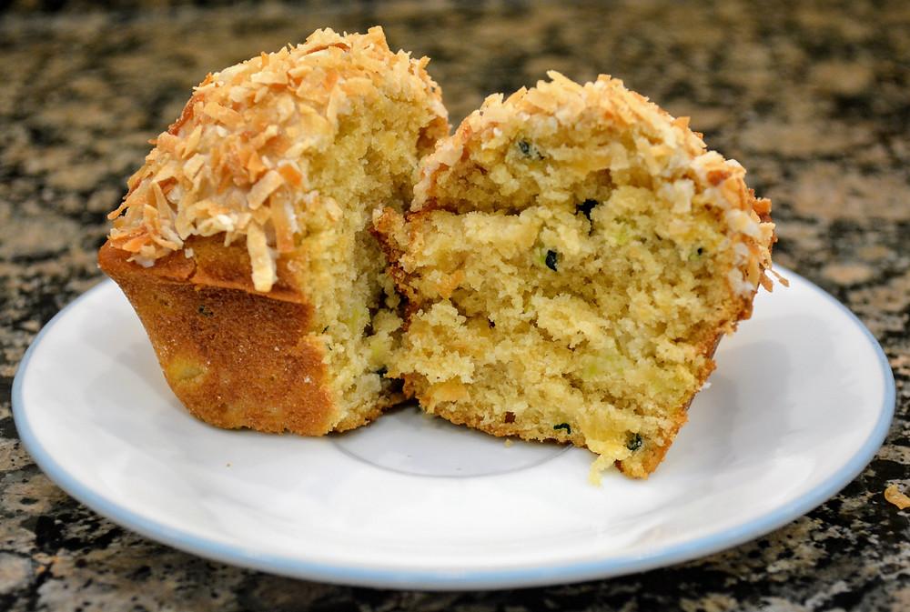 Moist Pina Colada Zucchini Breads