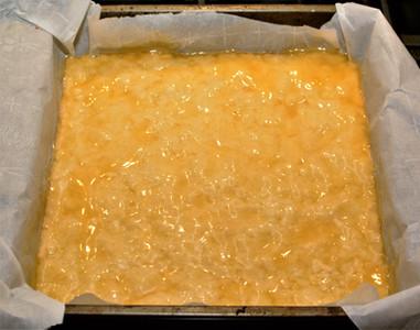 Lemon Curd Layer for Blueberry Lemon Coconut Cake Bars