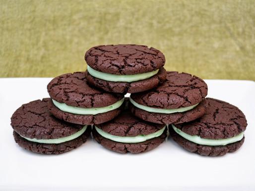 Homemade Mint Chocolate Oreos