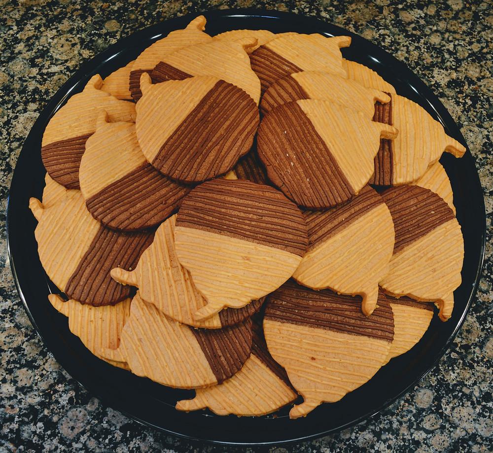 Tender Jumbo Pumpkin Spice Chocolate Cookies