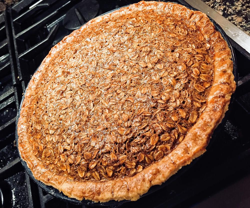 Easy Black Bottom Oatmeal Pie