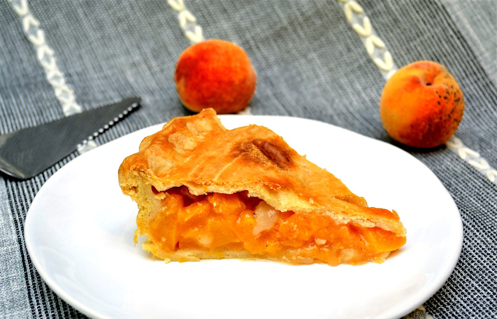 Peach Pie with Flaky, Buttery Crust