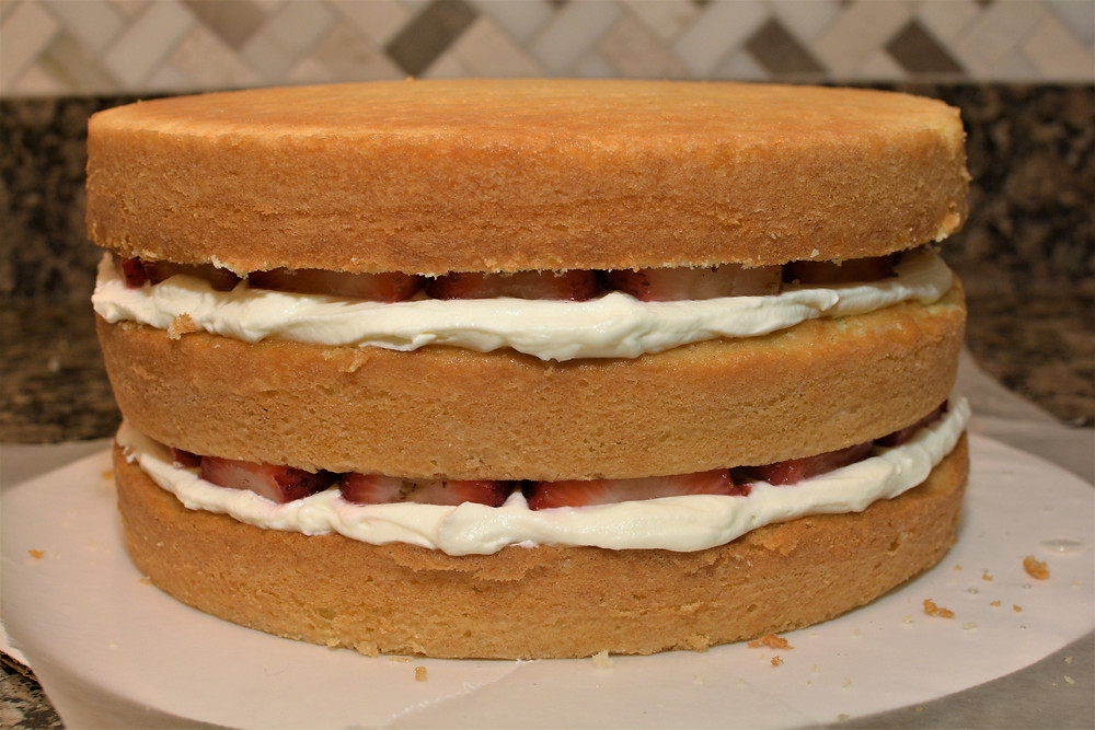 Buttery Sponge Cake for Strawberry Shortcake Layer Cake