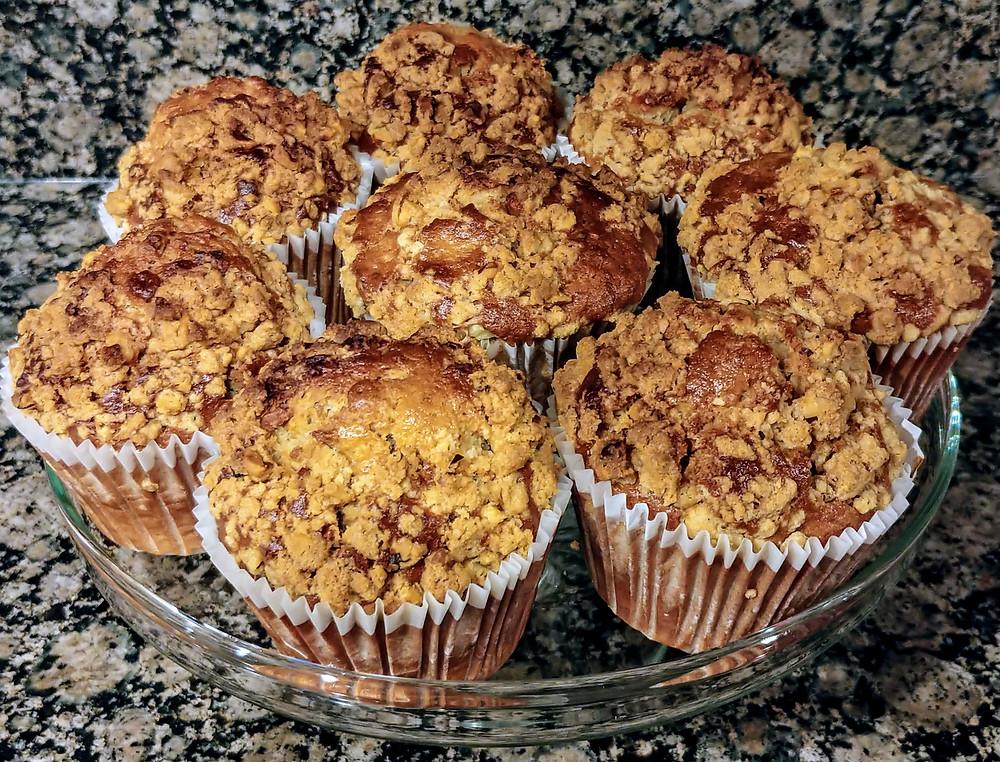 Spiced Banana Garam Masala Muffins with Walnut Crumb Topping
