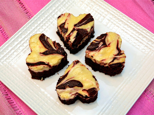 Dark Chocolate Red Velvet Cheesecake Swirl Brownies