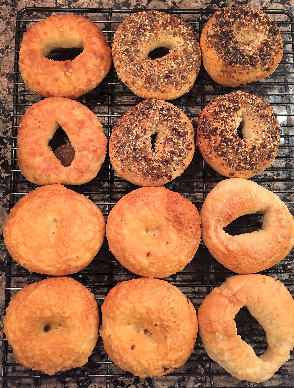 Boiled and Baked Homemade Bagels