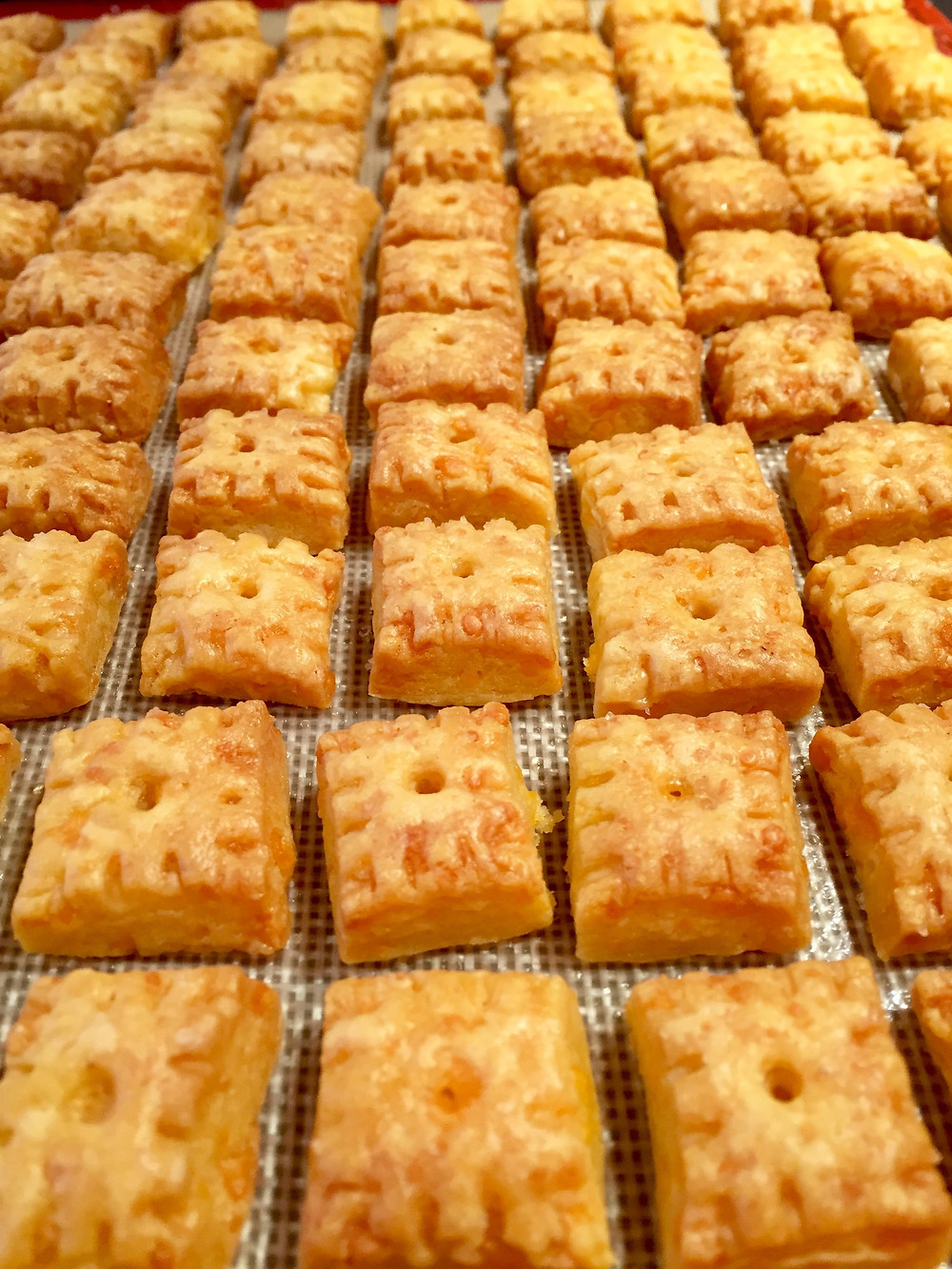 Buttery Homemade Cheez-It Crackers