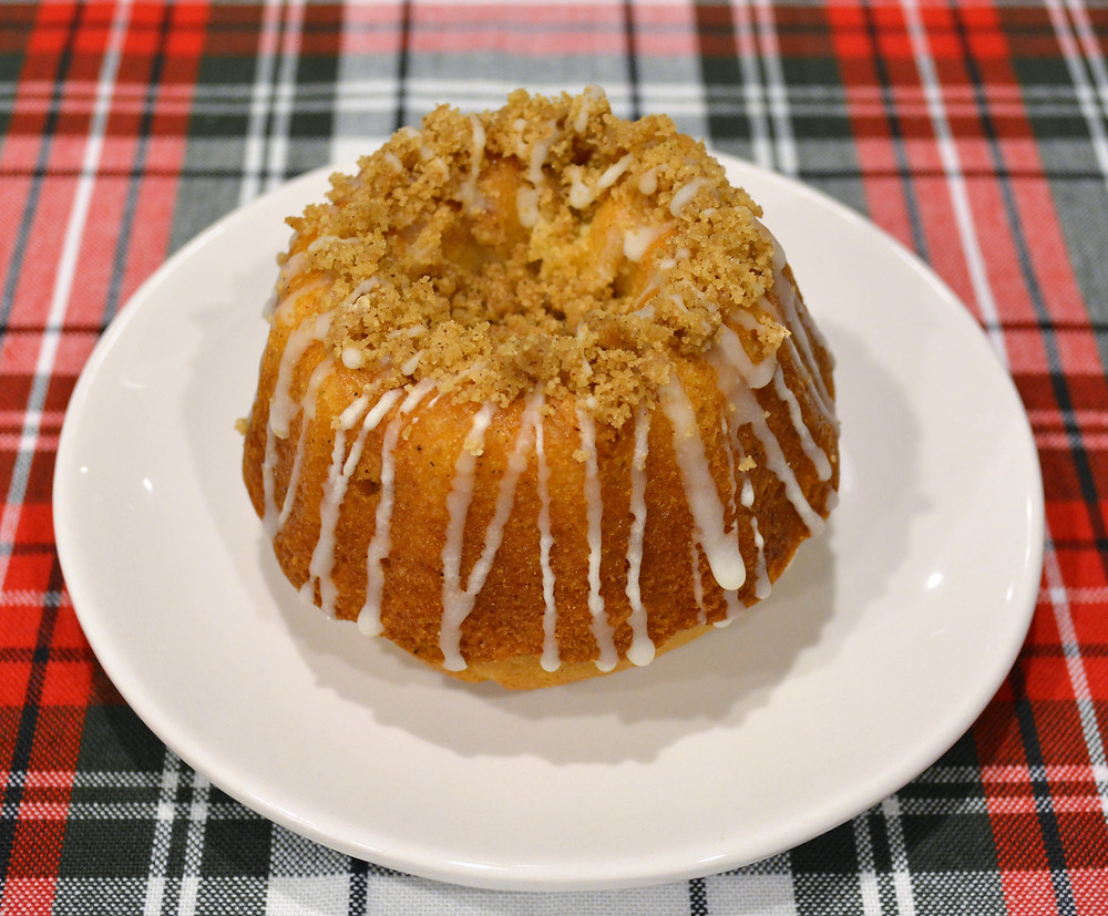 Soft and Buttery White Chocolate Spiced Eggnog Bundt Cakes
