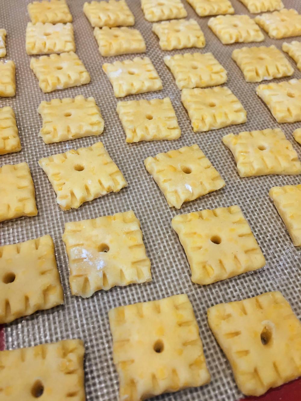 Cheesy Homemade Cheez-It Crackers