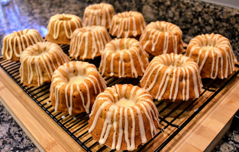 Mini Spiced Pear Bundt Cakes with Vanilla Browned Butter Glaze