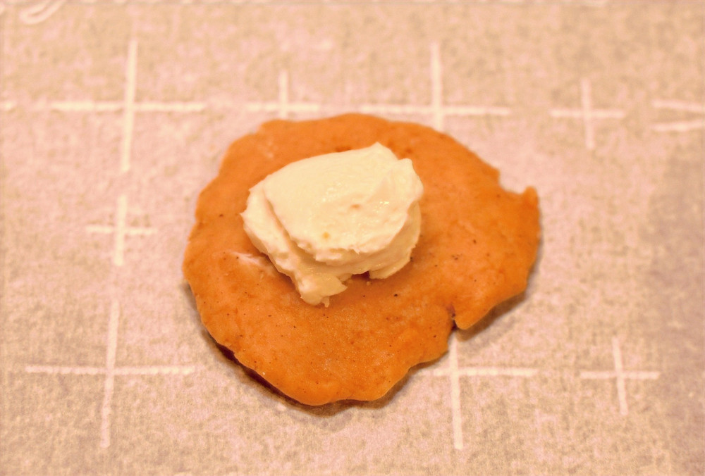 Pumpkin Snickerdoodle Cookie Dough with Cream Cheese Filling
