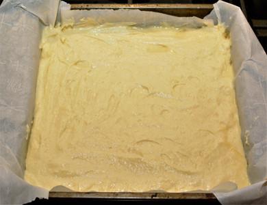 Coconut Pound Cake Layer for Blueberry Lemon Coconut Cake Bars