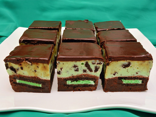 Mint Chocolate Oreo Fudge Brownies