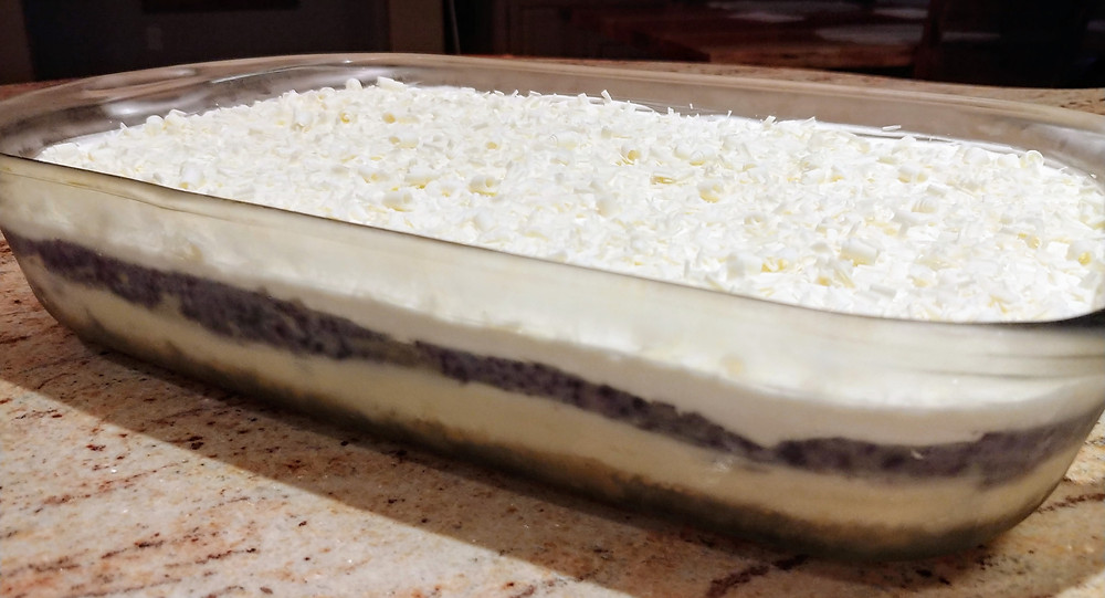 No-bake Lemon Blueberry White Chocolate Lasagna