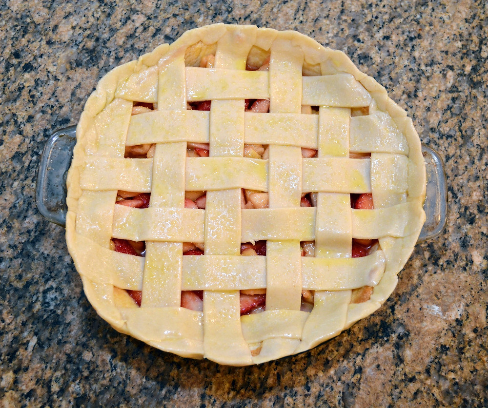 Double-crust Strawberry Guava Lattice Pie