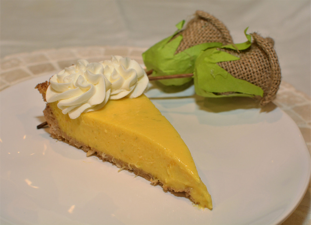 Tart and Creamy Mango Coconut Lime Tart