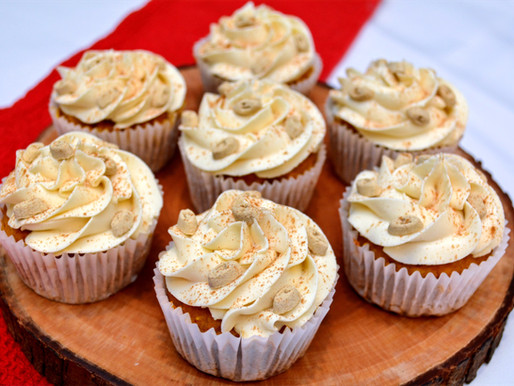 Apple Pumpkin Pupcakes with Maple Frosting