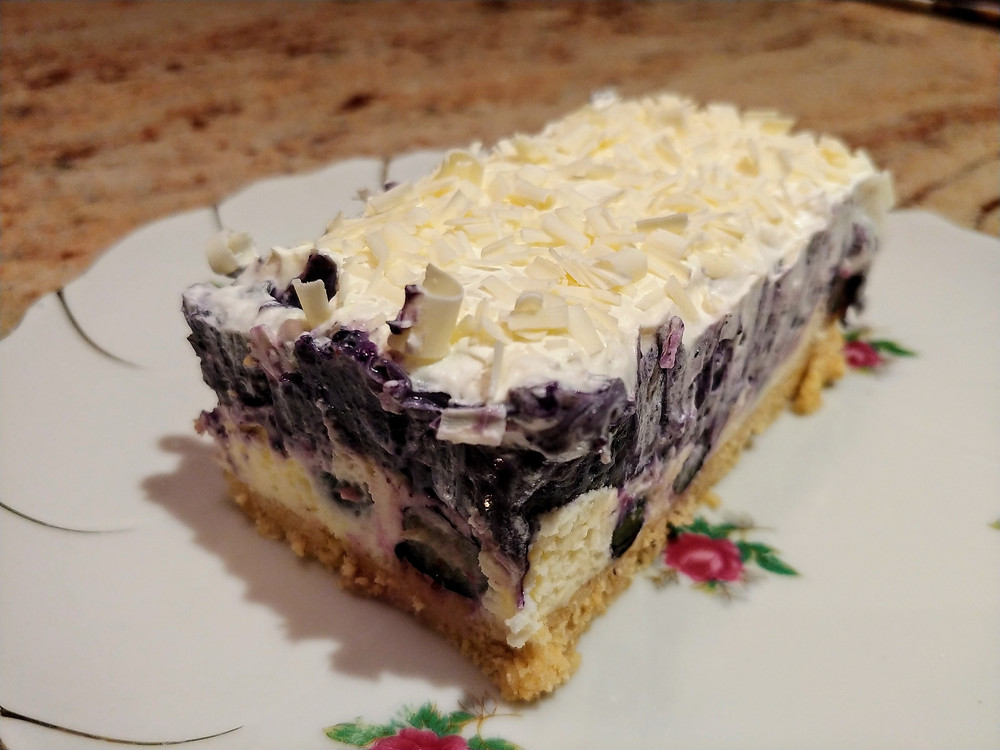 Light and Creamy Lemon Blueberry White Chocolate Lasagna