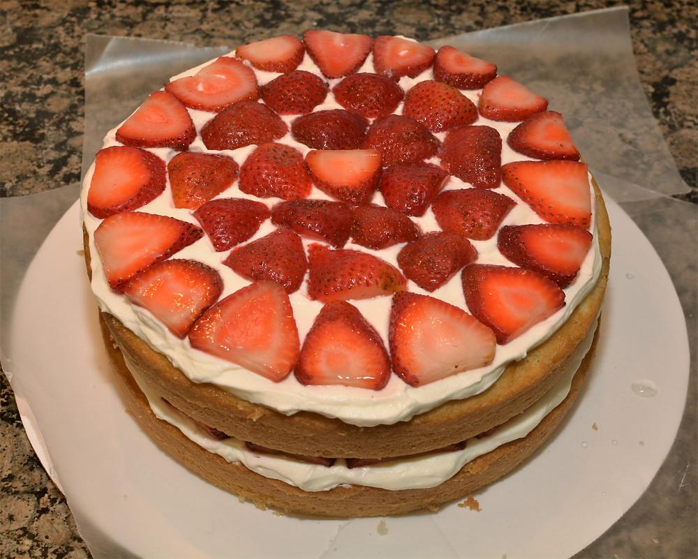 Light and Refreshing Strawberry Shortcake Layer Cake