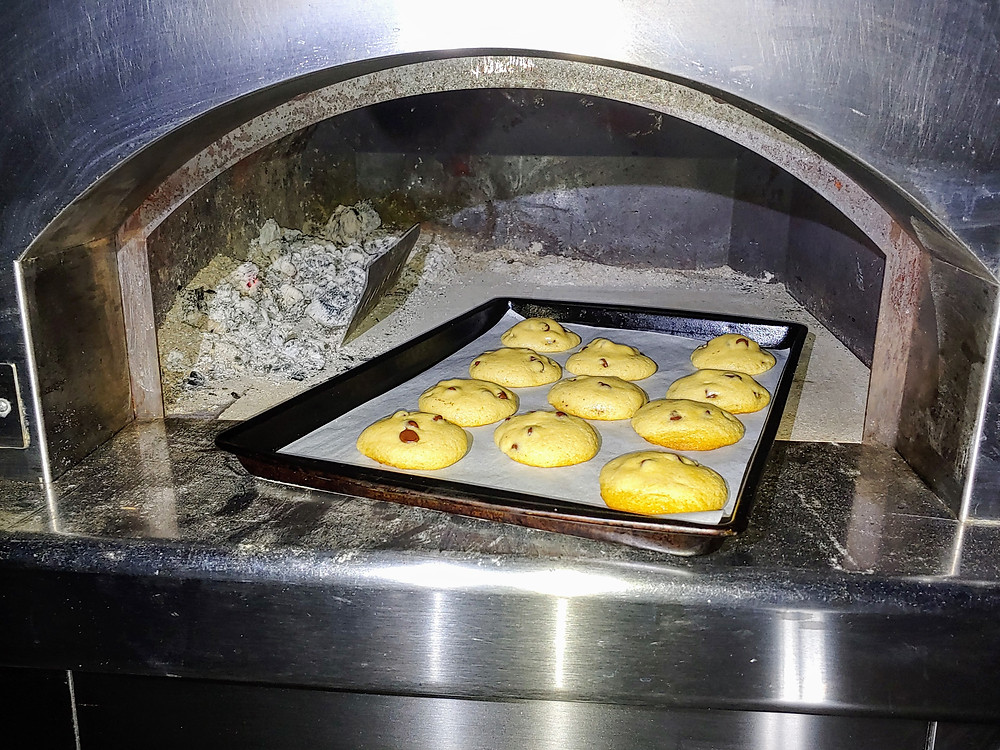 Pizza Oven Chocolate Chip Cookies