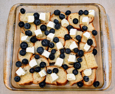 Layered Blueberries and Cream French Toast Casserole
