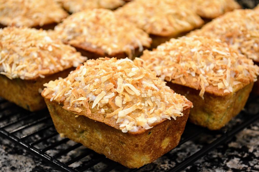Cake-like Pina Colada Zucchini Breads