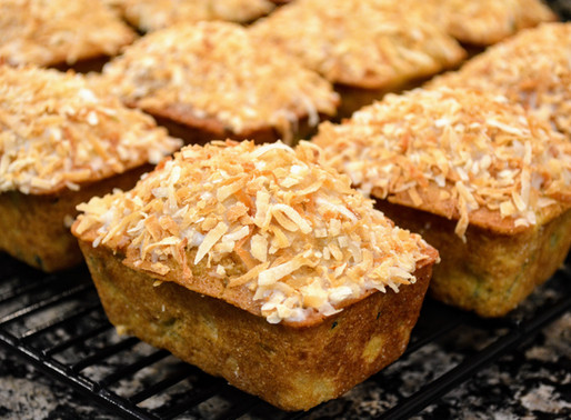 Piña Colada Zucchini Breads