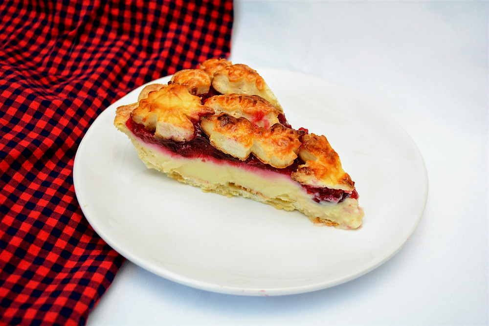 Beautiful Cranberry Orange Custard Pie for the Holidays
