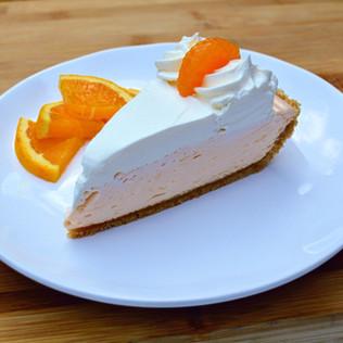 No-bake Orange Creamsicle Pie