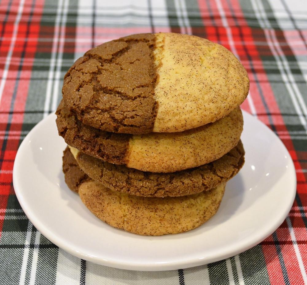 Cinnamon Sugar and Ginger Molasses Jumbo Gingerdoodle Cookies